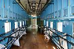 Interior of a mail car, Museo Nacional de los Ferrocarriles Mexicanos or National Railway Museum in the city of Puebla, Mexico