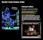 Michael Jeffers photo on Boulder Creek Guitars website