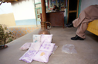 Northern Alliance commander, Qasir Kabir, has two hundred kilograms of heroin worth $800,000 he says he must burn and destroy in the name of Allah.