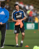 Earthquakes' assistant coach Ian Russell is pictured during practice before the game against Real Salt Lake at Buck Shaw Stadium in Santa Clara, California on March 27th, 2010.   Real Salt Lake defeated San Jose Earthquakes, 3-0.