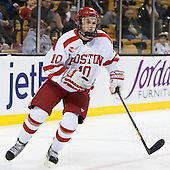 Danny O'Regan (BU - 10) - The Northeastern University Huskies defeated the Boston University Terriers 3-2 in the opening round of the 2013 Beanpot tournament on Monday, February 4, 2013, at TD Garden in Boston, Massachusetts.