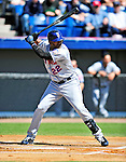 6 March 2010: New York Mets' outfielder Jolbert Cabrera in action during a Spring Training game against the Washington Nationals at Space Coast Stadium in Viera, Florida. The Mets defeated the Nationals 14-6 in Grapefruit League action. Mandatory Credit: Ed Wolfstein Photo