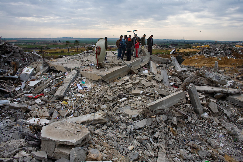 Al Tufa'ah, Gaza Strip, Jan 20 2009.Hundreds of houses, farms and factories have been destroyed and bulldozed over by the Israeli army, flattening approximately an area 10km square, ruining countless families, left resourceless in what amounts to collective punishment..