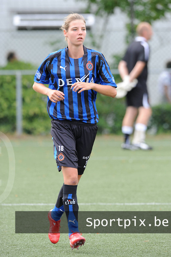 Dames Club Brugge : Nicky Van Den Abbeele .foto VDB / BART VANDENBROUCKE