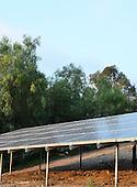 Stock photo of solar panels