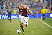 Sporting Park, Kansas City, Kansas, July 31 2013:<br /> Federico Balzaretti (42) defender AS Roma in action.<br /> MLS All-Stars were defeated 3-1 by AS Roma at Sporting Park, Kansas City, KS in the 2013 AT &amp; T All-Star game.
