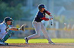 30 June 2012: Lowell Spinners infielder Mookie Betts at bat against the Vermont Lake Monsters at Centennial Field in Burlington, Vermont. Mandatory Credit: Ed Wolfstein Photo