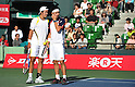 (L to R) Tatsuma Ito (JPN), Kei Nishikori (JPN), October 3, 2011 - Tennis : Men's Doubles at Rakuten Japan Open Tennis Championships in Tokyo, Japan. (Photo by Atsushi Tomura/AFLO SPORT) [1035]
