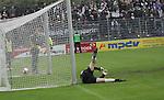 Sandhausen 19.04.2008, Tor durch die Steffen Wohlfarth (Ingolstadt), im Tor Sven Hoffmeister (SV Sandhausen) in der Regionalliga S&uuml;d 2007/08 SV Sandhausen 1916 - FC Ingolstadt 04<br /> <br /> Foto &copy; Rhein-Neckar-Picture *** Foto ist honorarpflichtig! *** Auf Anfrage in h&ouml;herer Qualit&auml;t/Aufl&ouml;sung. Belegexemplar erbeten.