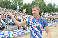 FIERLJEPPEN: WINSUM: Accommodatie St. Japik, 13-08-2016, FK Fierljeppen, Nard Brandsma, ©foto Martin de Jong