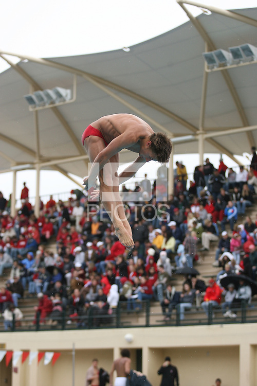 18 February 2006: Diver Dwight Dumais during Stanford's 136-107 win over the California Golden Bears at the Avery Aquatic Center in Stanford, CA.