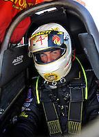 May 29, 2009; Topeka, KS, USA: NHRA top fuel dragster driver Clay Millican during qualifying for the Summer Nationals at Heartland Park Topeka. Mandatory Credit: Mark J. Rebilas-