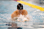 26 MAR 2011:  Nick D'Innocenzo of the University of Texas competes in the 200 Yard Breaststroke during the Division I Men's Swimming and Diving Championship held at the University of Minnesota Aquatics Center in Minneapolis, MN.  D'Innocenzo swam a 1:53.13 to place third in the event.  Carlos Gonzalez/ NCAA Photos