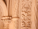Carved details around doors at the Bussaco Palace Hotel in Portugal.