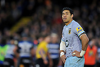 George Pisi of Northampton Saints looks on during a break in play. Aviva Premiership match, between Bath Rugby and Northampton Saints on December 5, 2015 at the Recreation Ground in Bath, England. Photo by: Patrick Khachfe / Onside Images