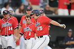 Mississippi's David Phillips hits a home run vs. Memphis at Autozone Park in Memphis, Tenn. on Tuesday, April 13, 2010. Memphis won 6-5.
