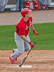 7 March 2015: St. Louis Cardinals outfielder Randal Grichuk in Spring Training action against the Washington Nationals at Space Coast Stadium in Viera, Florida. The Cardinals fell to the Nationals 6-5 in Grapefruit League play. Mandatory Credit: Ed Wolfstein Photo *** RAW (NEF) Image File Available ***