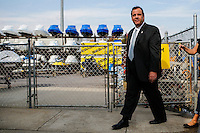 NJ's governor Chris Christie visits the Jersey shore's reconstruction, marking the second anniversary of Sandy storm in New Jersey. 10.29.2014. Eduardo MunozAlvarez/VIEWpress