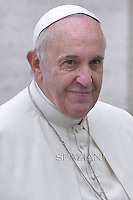 Pope Francis during his weekly general audience in St. Peter square at the Vatican, Wednesday.October 29, 2014