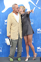 Director Andrei Konchalovsky and actress Julia Vysotskaya attend the photocall of the movie 'Paradise' presented in competition at the 73rd Venice Film Festival on September 8, 2016 at Venice Lido.<br /> CAP/GOL<br /> &copy;GOL/Capital Pictures /MediaPunch ***NORTH AND SOUTH AMERICAS ONLY***