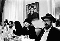 Milano, pranzo in una famiglia Lubavitch.Milan, lunch in a lubavitch family