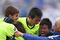 Yokohama Marinos team group, April 23rd, 2011 - Football : 2011 J.LEAGUE Division 1, 7th Sec match between Kashima Antlers 0-3 Yokohama Marinos at National Stadium, Tokyo, Japan. The J.League resumed on Saturday 23rd April after a six week enforced break following the March 11th Tohoku Earthquake and Tsunami. All games kicked off in the daytime in order to save electricity and title favourites Kashima Antlers are still unable to use their home stadium which was damaged by the quake. Velgata Sendai, from Miyagi, which was hard hit by the tsunami came from behind for an emotional 2-1 victory away to Kawasaki. (Photo by Akihiro Sugimoto/AFLO SPORT) [1080]