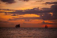 Two Boats At Sea