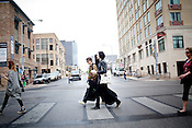 Sondre Lerche walks with Chris Wearing, during the 2011 SXSW Music Festival in Austin, Texas.