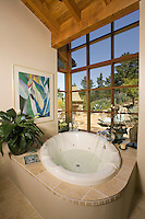 A bathroom tub at a private residence in California.