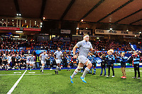 Tom Ellis and the rest of the Bath Rugby team run out onto the field. European Rugby Challenge Cup match, between Cardiff Blues and Bath Rugby on December 10, 2016 at the Cardiff Arms Park in Cardiff, Wales. Photo by: Patrick Khachfe / Onside Images