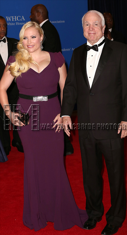 Megan McCain and John McCain attend the 100th Annual White House Correspondents' Association Dinner at the Washington Hilton on May 3, 2014 in Washington, D.C.