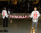 Chris Venti, Tommy Atkinson - The Boston College Eagles defeated the visiting Northeastern University Huskies 3-0 after a banner-raising ceremony for BC's 2012 national championship on Saturday, October 20, 2012, at Kelley Rink in Conte Forum in Chestnut Hill, Massachusetts.