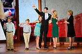 United States Representative Paul Ryan (Republican of Wisconsin), the GOP nominee for Vice President of the United States and his family on the podium following his speech at the 2012 Republican National Convention in Tampa Bay, Florida on Wednesday, August 29, 2012.  .Credit: Ron Sachs / CNP.(RESTRICTION: NO New York or New Jersey Newspapers or newspapers within a 75 mile radius of New York City)