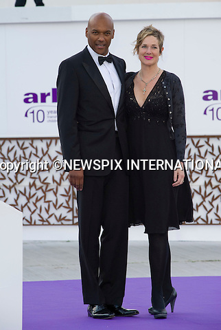 "COLIN SALMON AND WIFE FIONA HAWTHORNE.attend the 10th ARK Gala Dinner, Kensington Palace Gardens, London_09/06/2011.This was the couple's first official engagement since the wedding.Mandatory Photo Credit: ©Dias/NEWSPIX INTERNATIONAL.**ALL FEES PAYABLE TO: ""NEWSPIX INTERNATIONAL""**..PHOTO CREDIT MANDATORY!!: DIASIMAGES(Failure to credit will incur a surcharge of 100% of reproduction fees)..IMMEDIATE CONFIRMATION OF USAGE REQUIRED:.DiasImages, 31a Chinnery Hill, Bishop's Stortford, ENGLAND CM23 3PS.Tel:+441279 324672  ; Fax: +441279656877.Mobile:  0777568 1153.e-mail: info@diasimages.com"