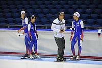 SCHAATSEN: HEERENVEEN: 15-09-2014, IJsstadion Thialf, Topsporttraining, Toshiaki Imamura (trainer Team NewBalance), ©foto Martin de Jong