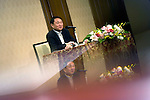 Thaksin Shinawatra, former prime minister of Thailand, speaks during a group interview in Tokyo, Japan on 23 Aug. 2011. Photographer: Robert Gilhooly