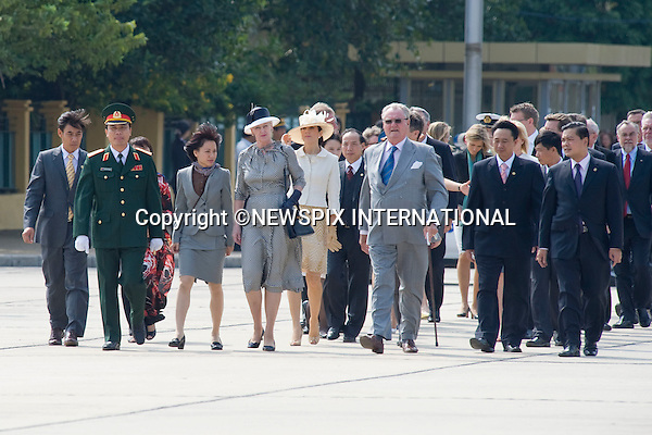 """The Danish Royal Family on the first official day of their State Visit to Vietnam. Vietnam is the first Royal visit the Danish Royal Family has taken together. Queen Margrethe, The Prince Consort Henrik, Crown Prince Fredrik and Crown Princess Mary attended the Official Welcome Ceremony at the Presidential Palace hosted by President Nguyen Minh TRIET and First Lady Tran Thi Kim Chi, after which they laid wreaths at the National Heroes and Martyrs Monument as well as the Ho Chi Minh Mausoleum, Hanoi, Vietnam_02/11/2009..Mandatory Photo Credit: ©Dias/Newspix International..**ALL FEES PAYABLE TO: """"NEWSPIX INTERNATIONAL""""**..PHOTO CREDIT MANDATORY!!: NEWSPIX INTERNATIONAL(Failure to credit will incur a surcharge of 100% of reproduction fees)..IMMEDIATE CONFIRMATION OF USAGE REQUIRED:.Newspix International, 31 Chinnery Hill, Bishop's Stortford, ENGLAND CM23 3PS.Tel:+441279 324672  ; Fax: +441279656877.Mobile:  0777568 1153.e-mail: info@newspixinternational.co.uk"""