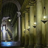 A view down a hallway in the Vatican in Rome