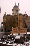 Historic Auburn Courthouse in the snow