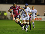 Maama Molitika charges through Bath defence to score Cardiff first try.  to Cardiff Blues V Bath, EDF Energy Cup. &copy; Ian Cook IJC Photography iancook@ijcphotography.co.uk www.ijcphotography.co.uk