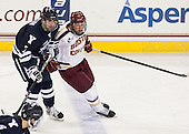 Matt Killian (Yale - 7), Patrick Brown (BC - 23) - The Boston College Eagles tied the visiting Yale University Bulldogs 3-3 on Friday, January 4, 2013, at Kelley Rink in Conte Forum in Chestnut Hill, Massachusetts.