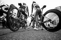 Milan-San Remo preparations..the day before.Team Katusha before last training ride