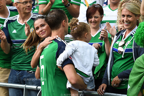 Jonny Evans (Northern Ireland) ; <br /> June 16, 2016 - Football : Uefa Euro France 2016 : Group C, Ukraine 0-2 Northern Ireland at Stade de Lyon, Lyon, France. (Photo by aicfoto/AFLO)