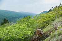 Scenic views of Brockway Mountain in Copper Harbor Michigan Upper Peninsula.