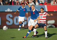 03 June 2012: US Men's National Soccer Team forward Landon Donovan #10 in action during an international friendly  match between the United States Men's National Soccer Team and the Canadian Men's National Soccer Team at BMO Field in Toronto..The game ended in 0-0 draw..