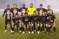 The LA Galaxy defeated the Philadelphia Union 1-0 at Home Depot Center stadium in Carson, California on  April  2, 2011....