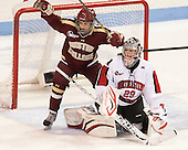 Dana Trivigno (BC - 8), Chloe Desjardins (NU - 29) - The Northeastern University Huskies defeated Boston College Eagles 4-3 to repeat as Beanpot champions on Tuesday, February 12, 2013, at Matthews Arena in Boston, Massachusetts.