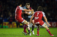 Joe Marler of Harlequins takes on the Grenoble defence. European Rugby Challenge Cup semi final, between Harlequins and Grenoble on April 22, 2016 at the Twickenham Stoop in London, England. Photo by: Patrick Khachfe / JMP