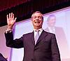 UKIP 2015 Spring Conference at the Winter Gardens Margate, Great Britain <br /> 28th February 2015 <br /> <br /> Nigel Farage MEP<br /> Leader of UKIP<br /> <br /> <br /> <br /> Photograph by Elliott Franks <br /> Image licensed to Elliott Franks Photography Services