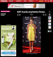 LOS ANGELES, CA - JULY 17: Americal track and field athlete LoLo Jones arrives at the 2013 ESPY Awards at Nokia Theatre L.A. Live on July 17, 2013 in Los Angeles, California. (Photo by Celebrity Monitor)
